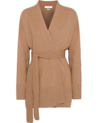 Sandro - Elina Wool And Cashmere-blend Wrap Cardigan - Lyst
