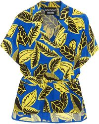 Boutique Moschino   Printed Crepe De Chine Blouse   Lyst