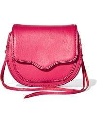 Rebecca Minkoff - - Sydney Mini Leather Shoulder Bag - Fuchsia - Lyst