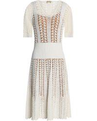 Michael Kors - Fluted Crocheted Dress - Lyst