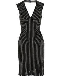 Hervé Léger - Lisett Fringed Metallic Bandage Dress - Lyst
