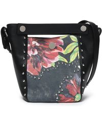 3.1 Phillip Lim - Studded Panelled Floral-print Leather Bucket Bag - Lyst