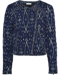 Soft Joie - Woman Akinyi Quilted Jacquard Jacket Navy - Lyst