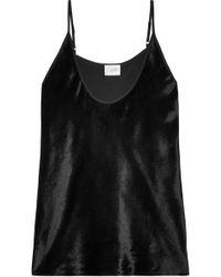 Cami NYC - Woman Luna Velvet Camisole Black - Lyst