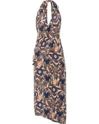 Haney - Madison Printed Silk Halterneck Dress - Lyst