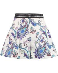 adidas Originals - Pleated Printed Cotton-blend Shorts - Lyst