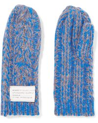 Marc By Marc Jacobs - Chunky-knit Wool-blend Mittens - Lyst