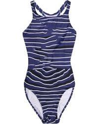 adidas By Stella McCartney - Cutout Printed Swimsuit - Lyst