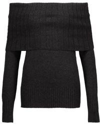A.L.C. - Monica Off-the-shoulder Ribbed Merino Wool-blend Jumper - Lyst