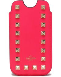 Valentino - Rockstud Leather Iphone 5/5s/se Case Bright Pink - Lyst
