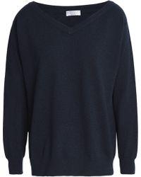 Brunello Cucinelli - Bead-embellished Cashmere Sweater Midnight Blue - Lyst