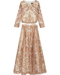 Notte by Marchesa - Embroidered Tulle Top And Skirt Set - Lyst