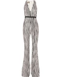 Giambattista Valli - Silk And Cotton-blend Jacquard Jumpsuit - Lyst