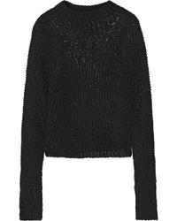 Isabel Marant - Zutti Open-knit Linen-blend Jumper - Lyst