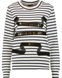 Petit Bateau - Printed Striped Cotton-jersey Sweatshirt - Lyst