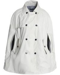 Petit Bateau - Woman Shell Jacket Light Gray - Lyst