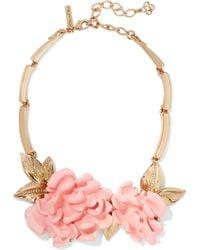 Oscar de la Renta | Gold-plated Resin Necklace | Lyst