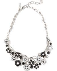 Oscar de la Renta - Silver-tone, Faux Pearl And Resin Necklace - Lyst