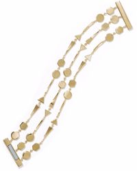 Noir Jewelry - Woman Grid Work 14-karat Gold-plated Bracelet Gold Size -- - Lyst