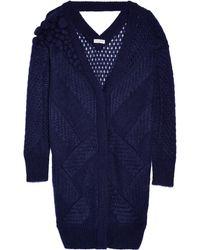 Vionnet - Embellished Open-knit Mohair-blend Cardigan - Lyst