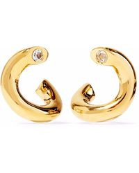 Elizabeth and James - Woman Gold-tone Crystal Earrings Gold - Lyst