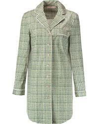 Tory Burch - Mireille Printed Stretch-cotton Pajama Shirt - Lyst