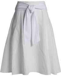 Chalayan - Piqué-trimmed Fluted Cotton-blend Cloqué Skirt - Lyst