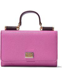 Dolce & Gabbana - Von Color-block Textured-leather Phone Case - Lyst