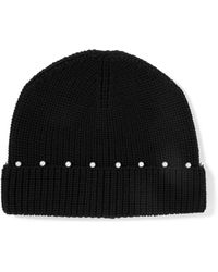 Sandro - Faux Pearl-embellished Wool Beanie - Lyst