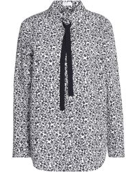 Claudie Pierlot - Printed Cotton-poplin Top - Lyst