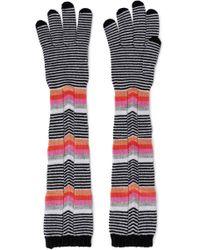 Missoni - Striped Wool Gloves Multicolour - Lyst