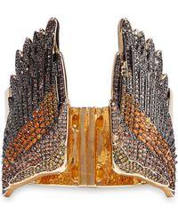 Noir Jewelry - Woman Gold-tone Crystal Cuff Gold - Lyst