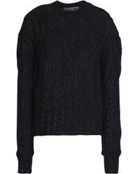 McQ - Pointelle-knit Mohair-blend Jumper - Lyst