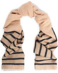 Brunello Cucinelli - Striped Metallic Intarsia-knit Scarf - Lyst
