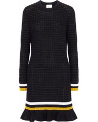 3.1 Phillip Lim - Striped Stretch-knit Cotton-blend Mini Dress - Lyst