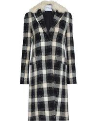 10 Crosby Derek Lam - Shearling-trimmed Checked Wool-blend Coat - Lyst