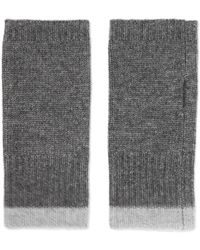 Duffy - Ribbed Wool And Cashmere-blend Gloves - Lyst