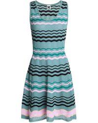 M Missoni - Crochet-knit Cotton-blend Mini Dress - Lyst