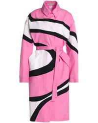 Emilio Pucci - Printed Cotton Trench Coat - Lyst