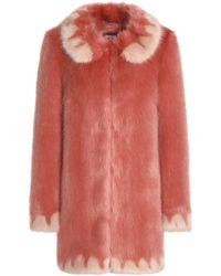 Shrimps - Woman Bobby Faux Fur Coat Antique Rose - Lyst