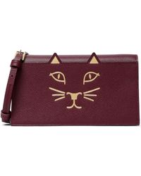 Charlotte Olympia - Long Feline Printed Leather Clutch - Lyst