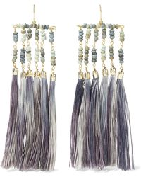 Rosantica - Havana Tasselled Gold-tone And Bead Earrings - Lyst