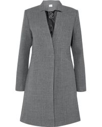 MILLY - Wool-blend Twill Coat - Lyst