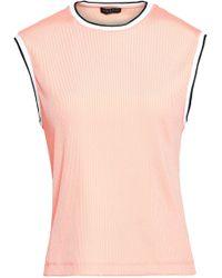 Rag & Bone - Woman Ribbed-knit Top Peach - Lyst