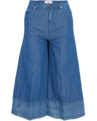 Co. - Tton And Linen-blend Culottes - Lyst