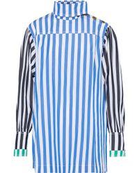 Sonia Rykiel - Paneled Striped Cotton-poplin Top - Lyst
