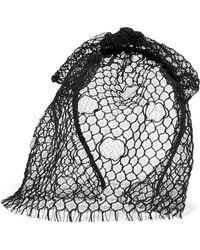Maison Michel | Tina Veiled Headband | Lyst