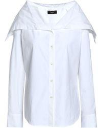 Theory - Stretch Cotton-poplin Shirt - Lyst