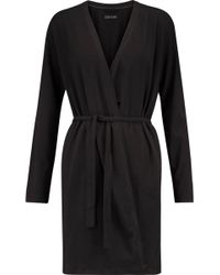 DKNY - Belted Cotton Robe - Lyst