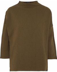 Koral - Woman Foil Matelassé Sweatshirt Army Green - Lyst